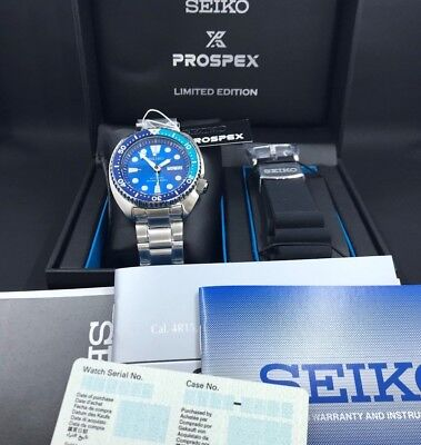 NEW! Seiko SRPB11 Turtle Blue Lagoon Limited Edition Automatic Men's Watch