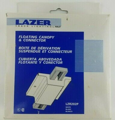 Halo Lazer ~ LZR202P White Floating Canopy Feed For Track Light Lighting -