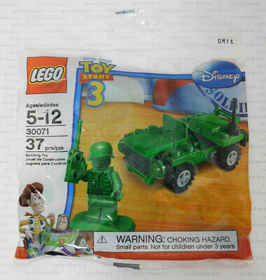 LEGO 30071 Disney Toy Story GREEN ARMY MAN MINIFIG+JEEP TRUCK Soldier Minifigure