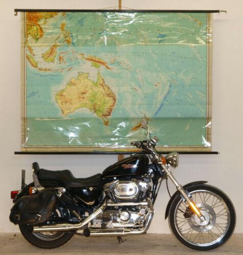 Schulwandkarte Wall Map Australia New Zeland Samoa South Bikini 208x154 1961