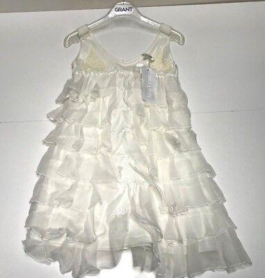 Miss Grant New Girls Kids PINAFORE LAYERED DRESS w/ SEQUIN Sz: 6 RTL: $279 P863