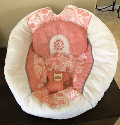 Fisher Price Coral Floral Swing Seat Cover Replacement Part Swing X7050