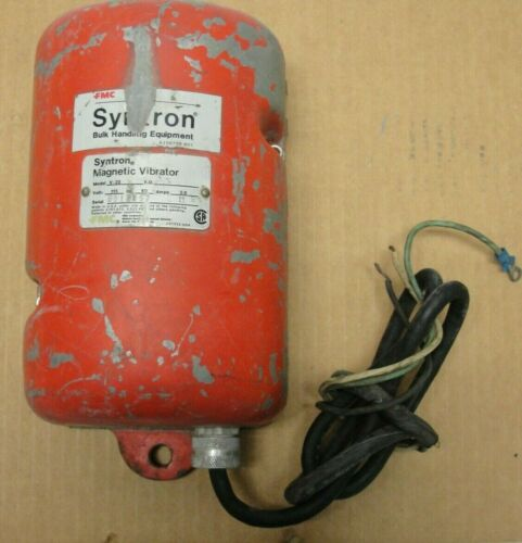 Vibratory Feeder Fmc Syntron Magnetic Vibrator V-20 115v Used Tested Made In Usa