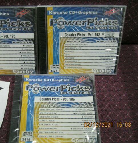 powerpicks country picks 3 disc set sound choice cd + graphics 3 karaoke set