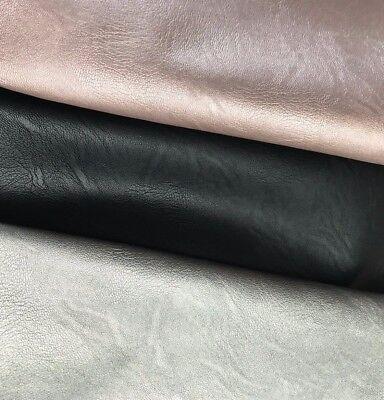Schwarz Metallic-leder (Kunstleder Metallic-Effekt in Rosegold, Schwarz und Taupe 0,5 m)