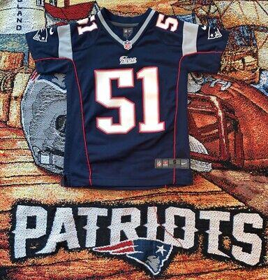 Vtg New England Patriots Jerod Mayo #51 Youth Jersey Small Blue NIKE Mayo Youth Jersey