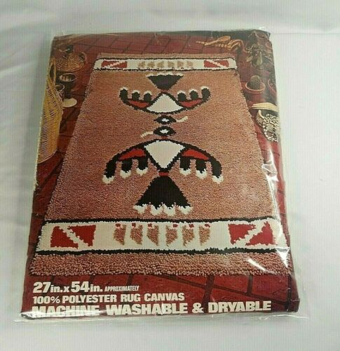Red heart Latch Hook Rug Pattern - Indian Design 6671 #02 - 27inX 54in