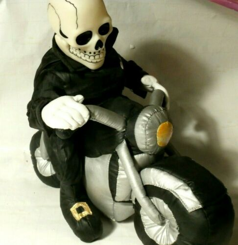 Vintage Collectible Halloween Skeleton On A Motorcycle - Has Sound - Cool Item