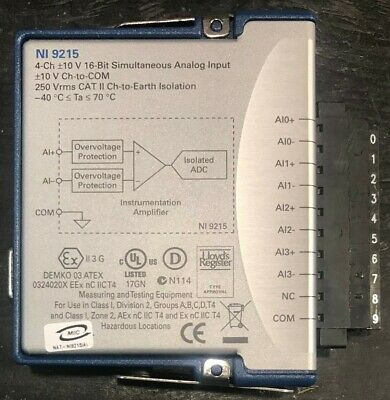 National Instruments Ni 9215 Cdaq Analog Input Module