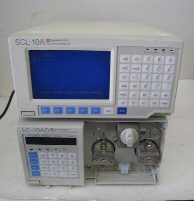 Shimadzu Lc-10ad Vp Hplc Pump Liquid Chromatograph Scl-10a System Controller