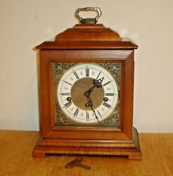 Vintage 1970's Linden Triple Chime Wind-Up Mantel Clock w/ Key Made In Germany