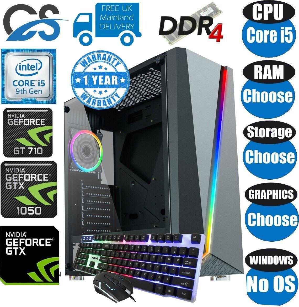Computer Games - Fast Intel Core i5 9400F Desktop Gaming Computer PC 1TB 16GB 6GB GTX 1660