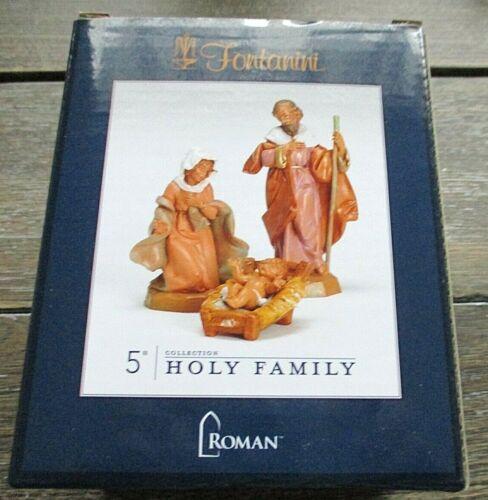 """Fontanini Roman Italy 5"""" Collection HOLY FAMILY 3 Pc. Christmas Nativity $65 NIB"""