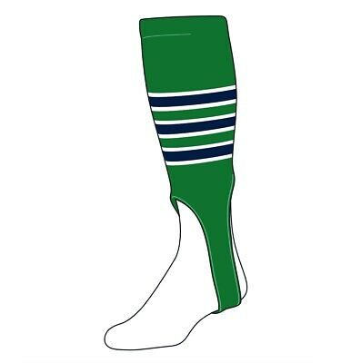 TCK Baseball Stirrups Large (300D, 7in) Kelly Green, White, Navy](Mens Baseball Stirrups)