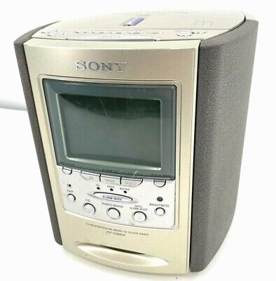 Sony Dream Machine ICF-CD863V CD player Alarm Clock TV Weather AM/FM Radio Works
