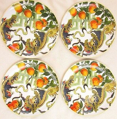 Williams Sonoma New Moon Salad Plates Set Of 4 Plus Serving Bowl  Dragon Foo Dog