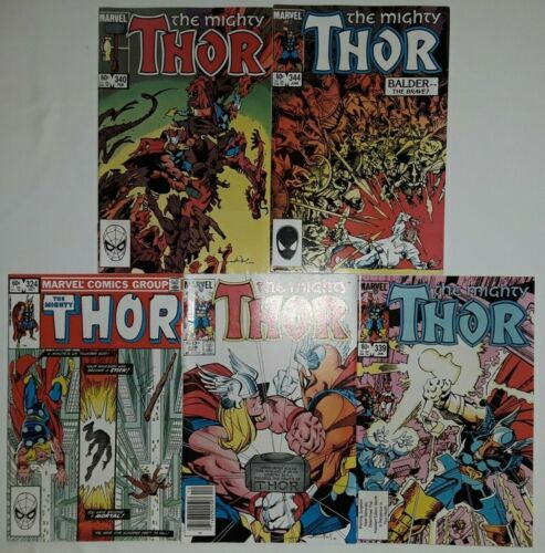 **THOR #324-358 LOT OF 9**(1982 MARVEL)**W/ 338,339,340**