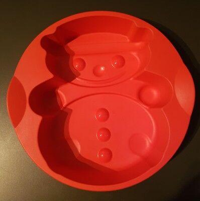 Tupperware Silikonform Schneemann, rot, gebraucht, von Eis bis heiß einsetzbar gebraucht kaufen  Plauen