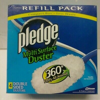 Pledge Multi Surface Duster 360 Fluffy All Around Double Sided Refill 4 - Double Duster Refill