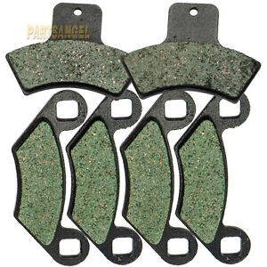 Front Rear Kevlar Carbon Brake Pads - 1998-2004 1999 POLARIS 500 Scrambler 4x4