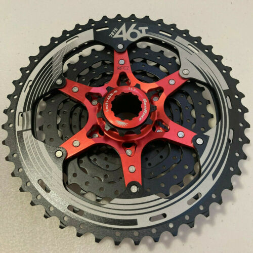 SunRace CSMX3 TAZ 10 Speed Wide Ratio Mountain Bike Cassette 11-46T Black Silver