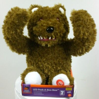 BROWN Peek A Boo Bear 11 in. with - Scary Halloween Animationen