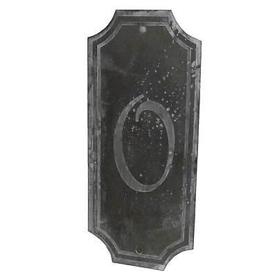 style ancienne plaque numero 0 de porte portail d entée de jardin murale en fer