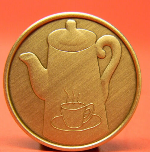 SOBRIETY COFFEE POT BRONZE CHIP-MEDALLION