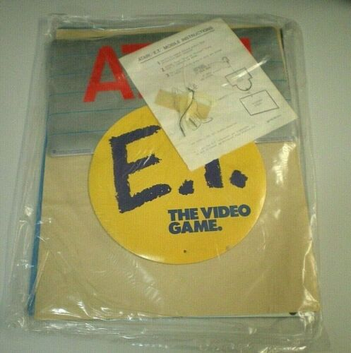 NEW Vtg ATARI E.T. The Extra Terrestrial ET VIDEO GAME Mobile Display PROMO SIGN
