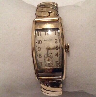 Vintage Waltham Premier 750 USA 17Jewels 10K Gold Filled Case Men's Watch Runs