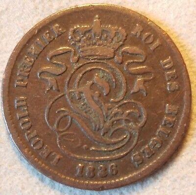 1836 Belgium 2 Centimes