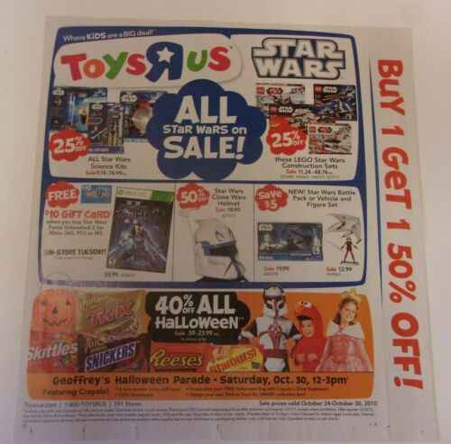Toys R Us store sales ad: Halloween 2010 (October 24-30)