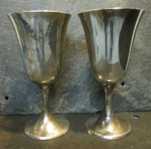 Gorham Lot Of 2 Sterling 272 Water Goblet 372.8 Grams 925