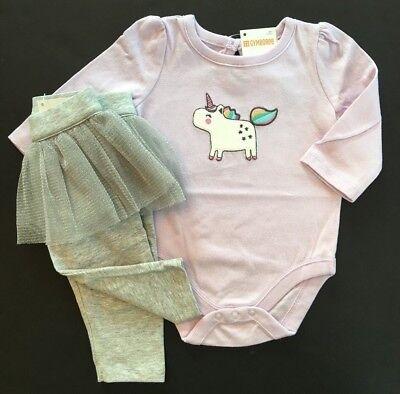 Gymboree Baby Girls Unicorn One Piece & Tutu Leggings 12 18 Months $49.90