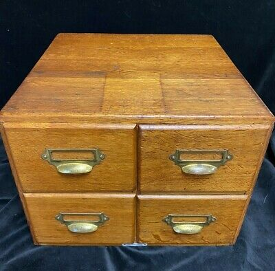 Oak 4 Drawer Index Filing Cabinet by D Matthews & Son Liverpool