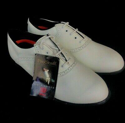 Wilson Prostaff Men's White Golf Shoes Spikeless Rubber Soles Synthetic Sz 10 W