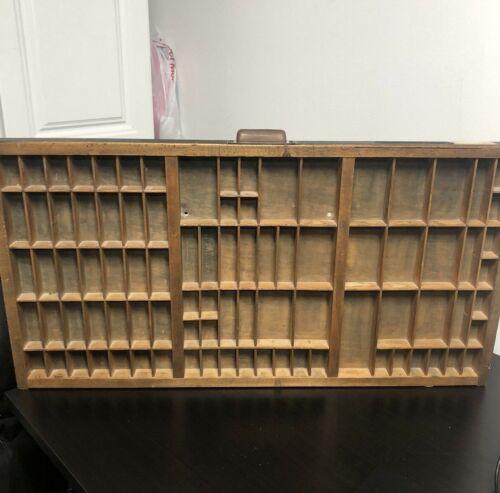 Vintage Hamilton Printer Type Set Drawer Tray Display Shadow Box 89 Spaces