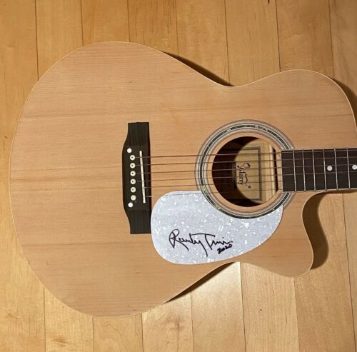 * RANDY TRAVIS * signed acoustic guitar * FOREVER AND EVER, AMEN * COA * 2