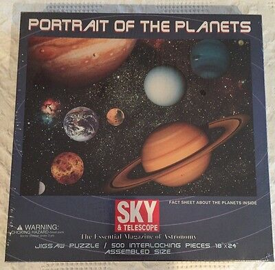 Portrait of The Planets 500 Piece Jigsaw Puzzle Factory Sealed 18