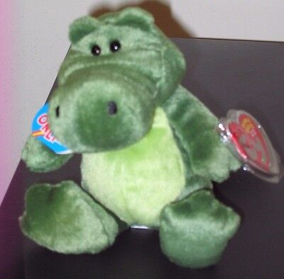 Ty 2.0 Beanie Baby ~ CHOMPY the Alligator - MINT with MINT TAGS -Stuffed Animal