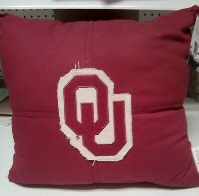 OKLAHOMA SOONERS LETTERMAN PILLOW  OFFICIAL 18