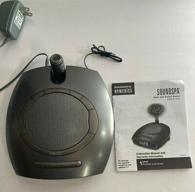 HoMedics Soundspa Digital Auto-Set Clock Radio Time Projector w/ Manual