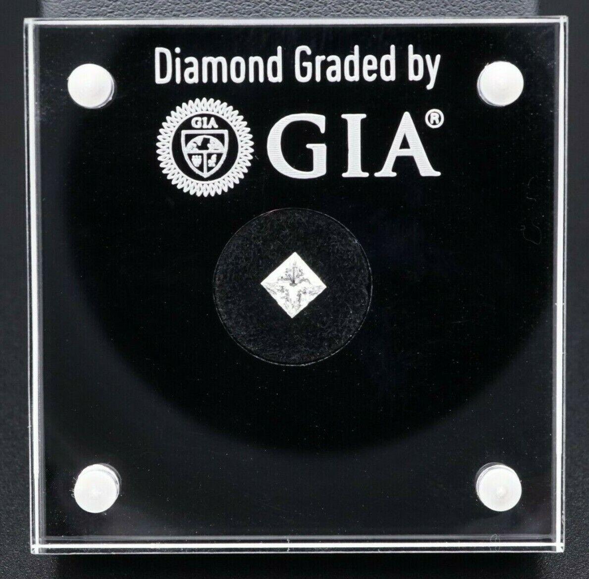 GIA Loose Square Modified Brilliant Princess Natural Diamond 0.5ct H VS2 G017