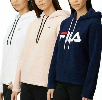 Fila Ladies Womens Sherpa Hoody Pullover Sweatshirt Sweater NEW