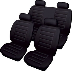 ROVER 25 45 75 100 200 Leatherlook Universal Full Set of Car Seat Covers BLACK