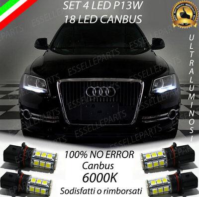 4x LUCI DI POSIZIONE P13W 18 LED DRL 6000K AUDI Q5 CANBUS NO ERROR DIURNE