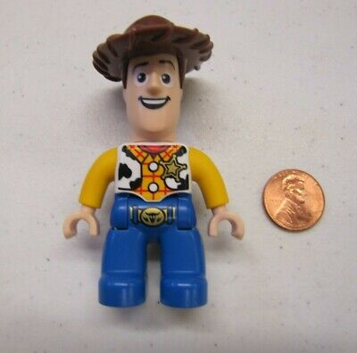 """New Lego Duplo WOODY from PIXAR TOY STORY Minifig Figure 2.5"""" Mini Fig Cowboy"""