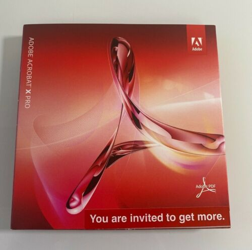 New Adobe Acrobat X PRO PC edition *Not a Subscription* 2 pc 1 user