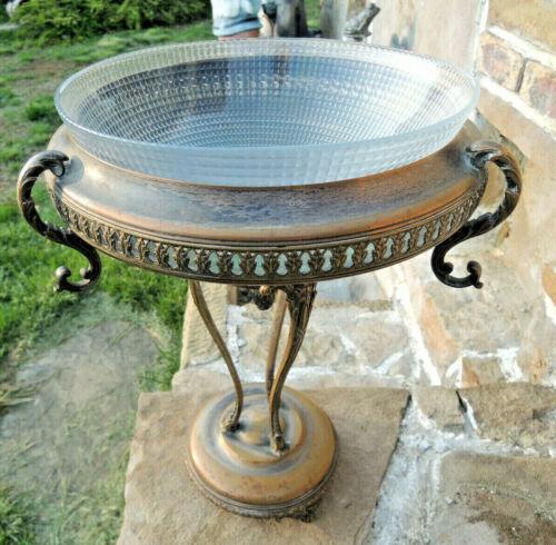 Antique Neo-Classical Silver Bronze Centerpiece Tazza bowl