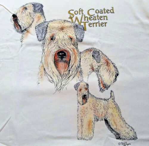 "Soft Coated Wheaten Terrier T-shirt  "" Ash "" SM ( 34 - 36 )"